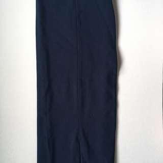 SM Woman Navy Pencil Skirt