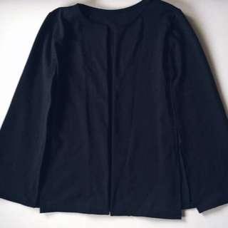 No Label Navy Bat Cape Coat