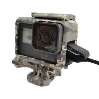 GoPro Grey Camo Frame Case Housing for Hero 5/6