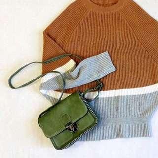 全新綠色肩背包 小包包