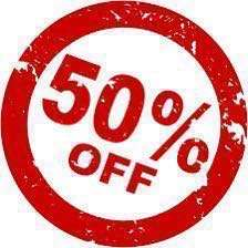 50% off on selected items