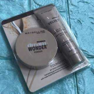 Maybelline foundation with powder