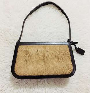 Authentic Celine Purse accented with pony hair