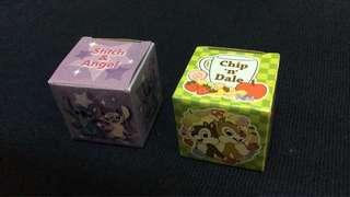 迪士尼公仔造型貼紙$5/1 史迪仔天使大鼻鋼牙 Stitch Angel Chip and Dale