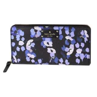 NEW Kate Spade Wallet (Grove Street Scattered Hydrangea Floral Neda Wallet Zip Around)