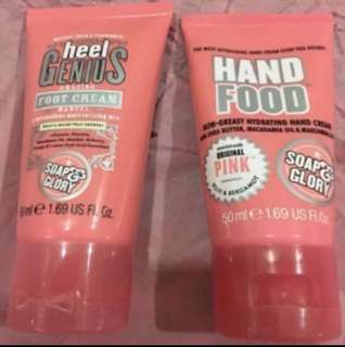 Soap and Glory hand and foot cream