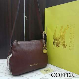 Burberry Small Helmsley Shoulder Bag Coffee Color