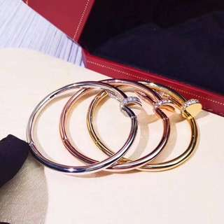 面交 Cartier 卡地亞 釘子手鐲  金色 銀色 玫瑰金  情侶款
