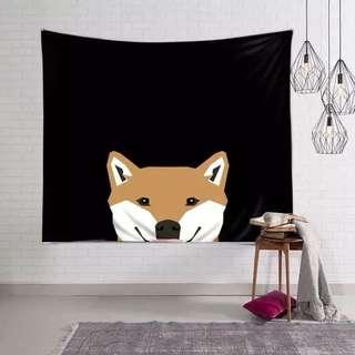 小預算佈置術柴犬裝飾掛布壁畫