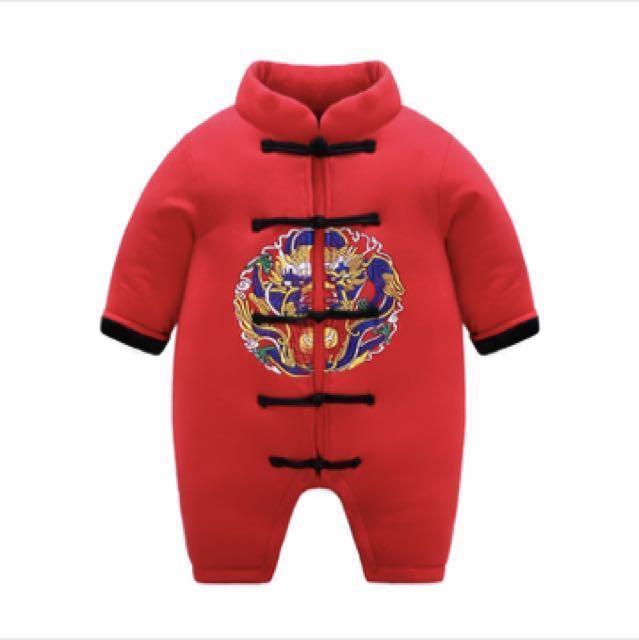 過年男寶嬰兒服唐裝