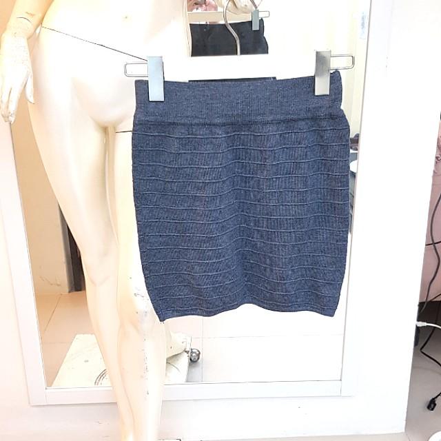 尋寶屋❤彈性灰色條紋針織裙