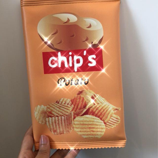 洋芋片可愛手拿包