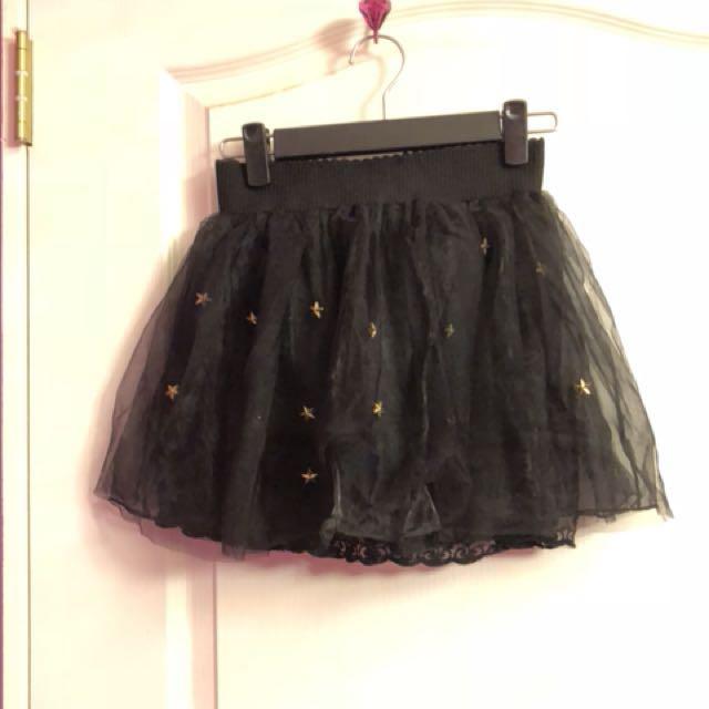 星星黑砂短裙