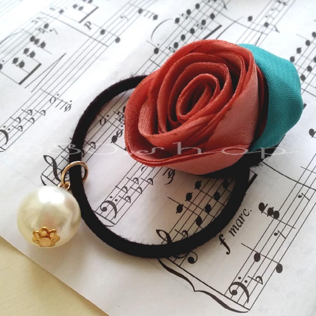 ★韓國珍珠玫瑰布藝髮飾