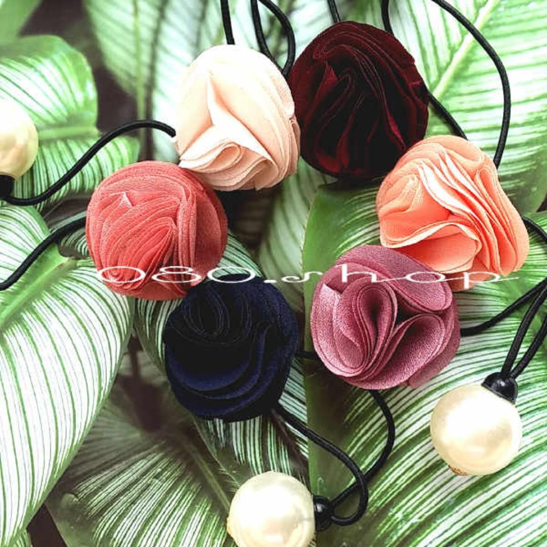 ★現貨韓國浪漫珍珠玫瑰髮圈