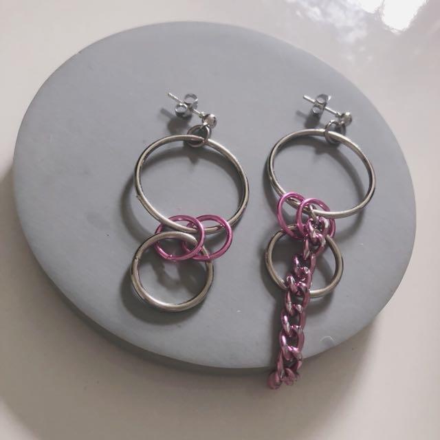 粉色圈圈耳環 超可愛😌😌💗