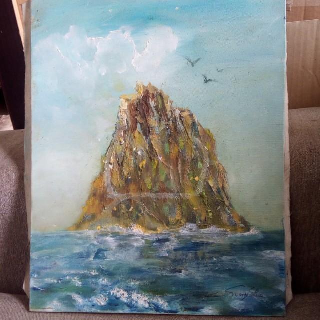 孤島 油畫 (無框)