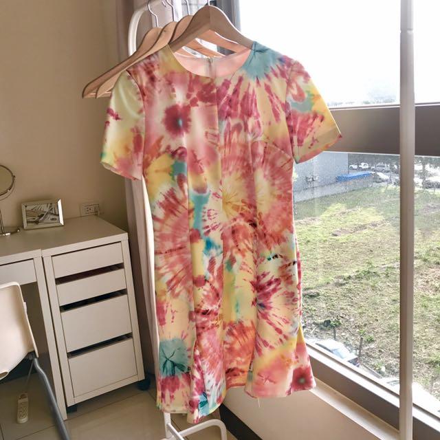 購於香港 渲染印花 洋裝