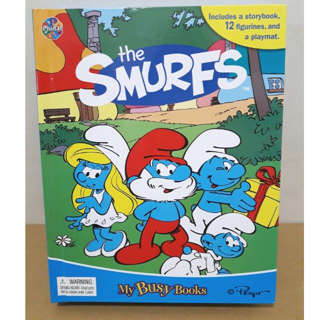 [全新]大本 硬頁 迪士尼 電影動畫 藍色小精靈 玩具故事書 the Smurfs