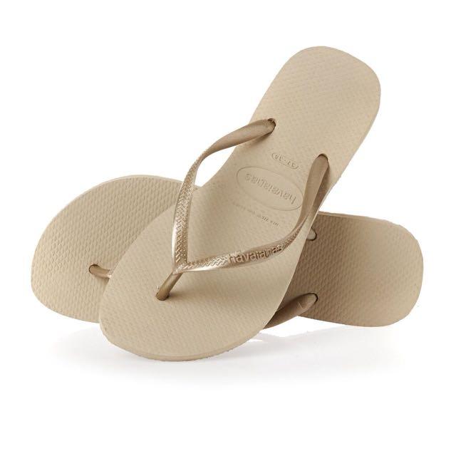 哈瓦仕 havaianas拖鞋 金屬細帶拖鞋 尺寸37/38 穿過一次