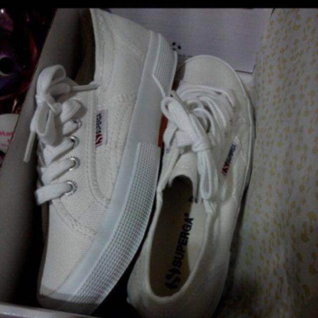 二手 Superga 2750 cotu-classic義大利經典小白鞋