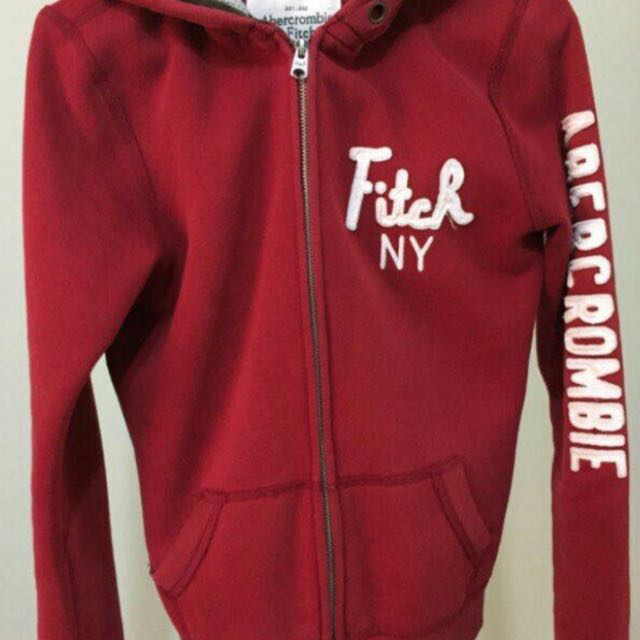 Abercrombie & Fitch 酒紅色外套