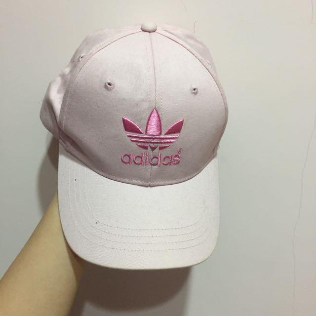 Adidas 粉色老帽