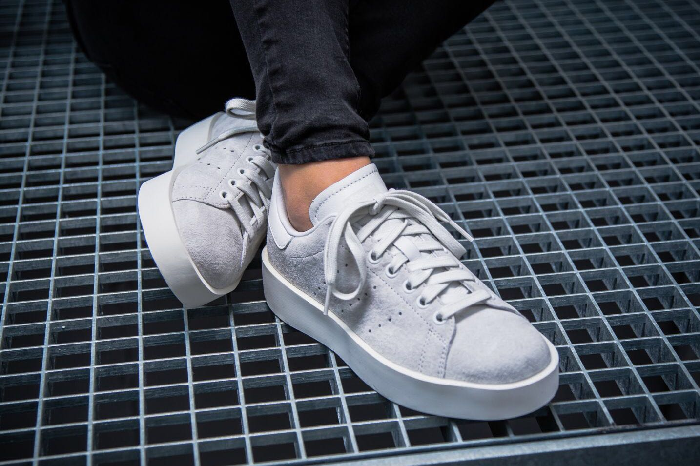 96dedc4be144 Adidas Stan Smith Bold - Grey  CG3776