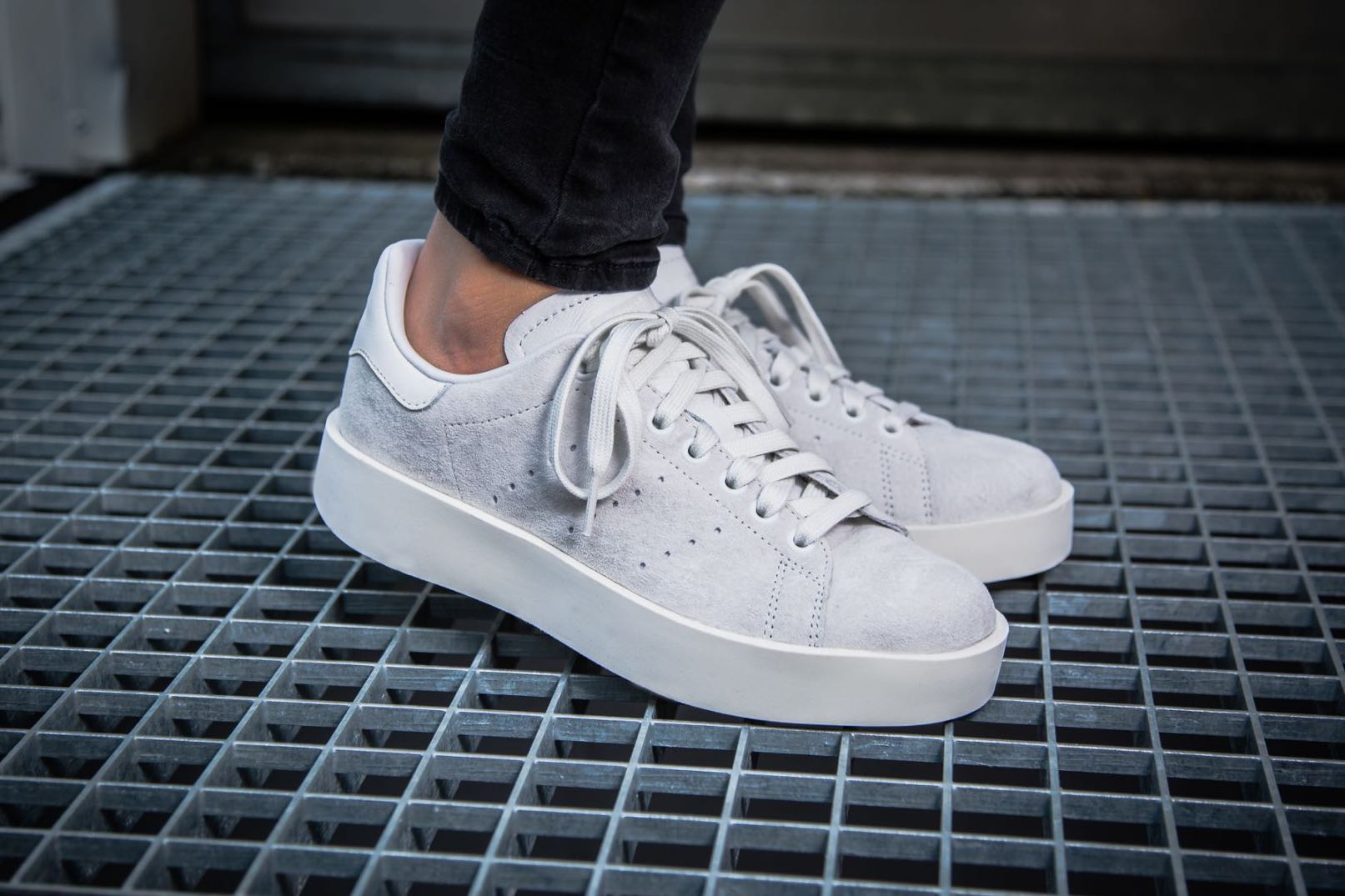 bc7c8873e2ea  Adidas Stan Smith Bold - Grey  CG3776