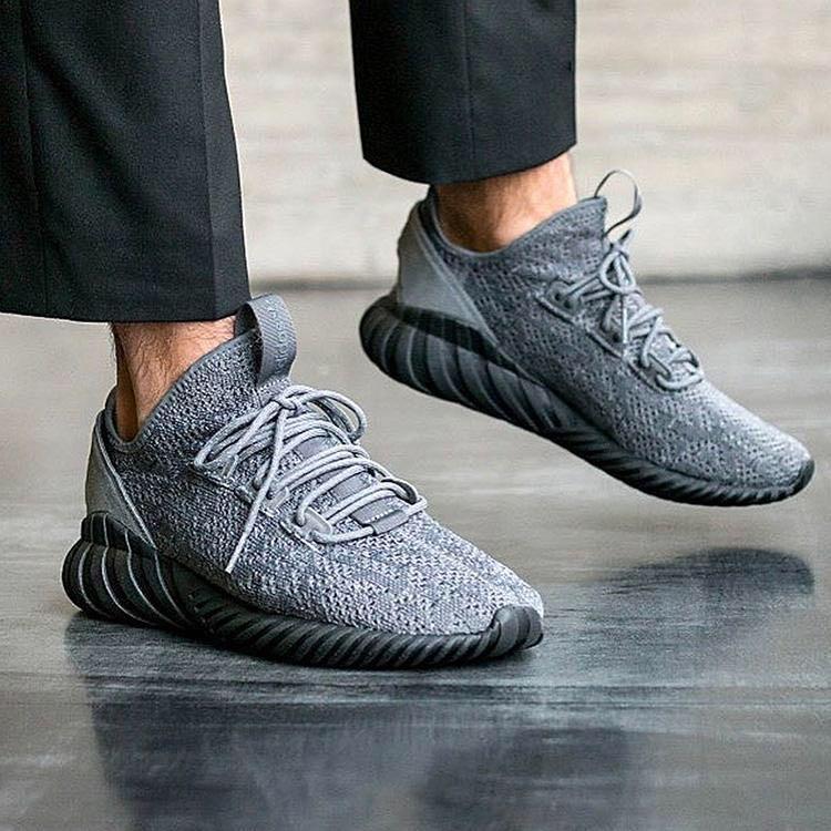 new concept d02e0 27389 Adidas Tubular Doom Sock Primeknit Grey FourCore Black, Mens