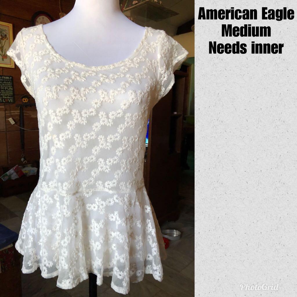 American Eagle See-Through Blouse