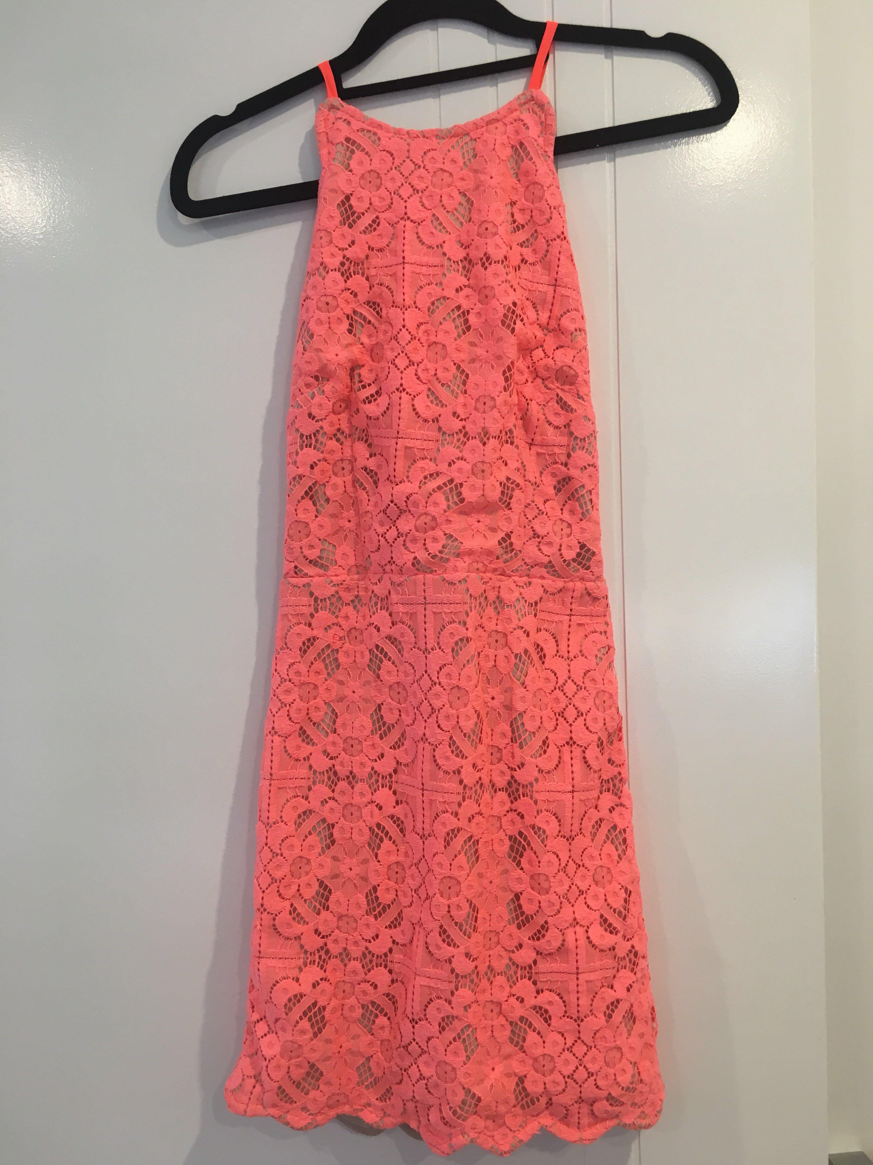 Angel Biba Dress - Pink / Coral