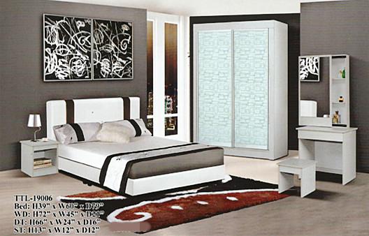 Ansuran Bulanan Murah Set Bilik Tidur Model 19006 Rumah Perabot Di Carou