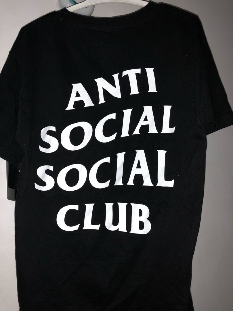 ANTI SOCIAL CLUB BLACK TEE Mens Fashion Clothes On Carousell