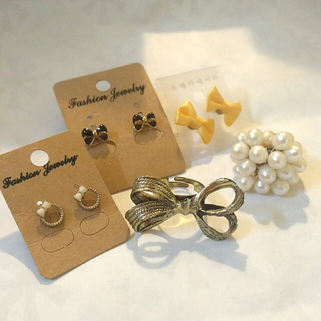 Assorted Earrings & Rings #bajet20