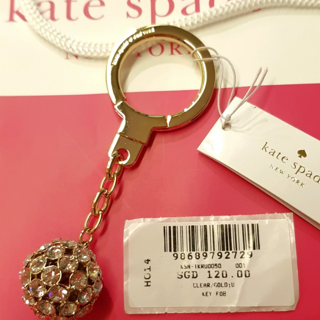 Authentic BN new Kate Spade Keychain - LADY MARMALADE CLEAR