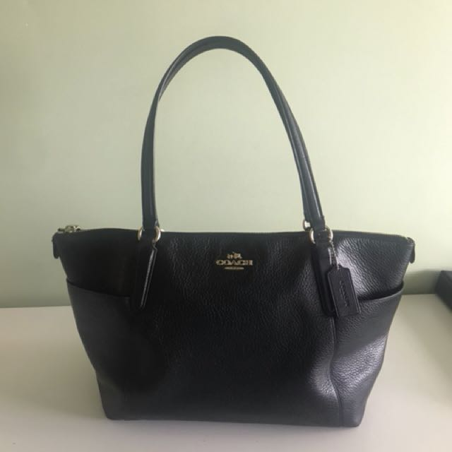 Authentic genuine leather Coach bag