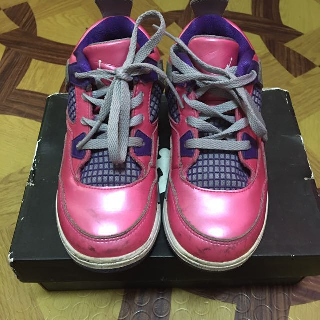 Authentic Jordan 4 Pink Foil 10c
