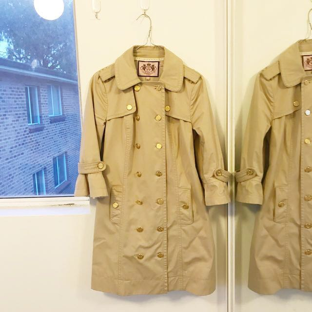 Authentic Juicy Couture trench coat size S