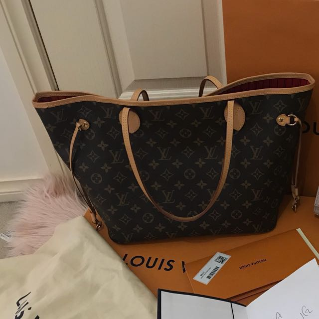 Authentic Louis Vuitton Neverfull MM monogram