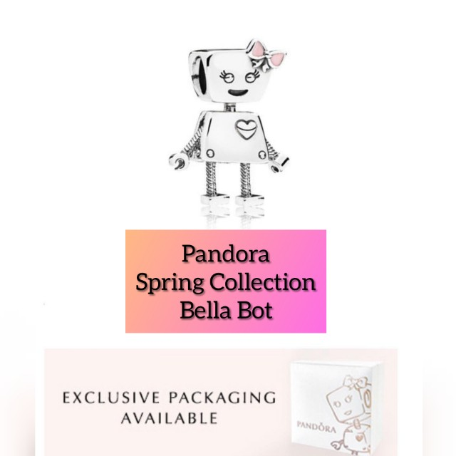 AUTHENTIC PANDORA SPRING COLLECTION BELLA BOT CHARM