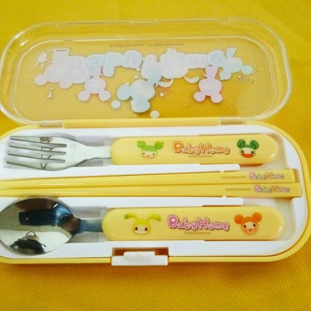 【Baby Home】兒童環保隨身餐具(三件組)