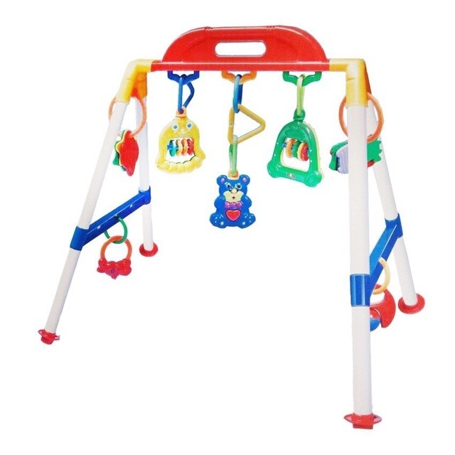 Baby musical play gym rattler
