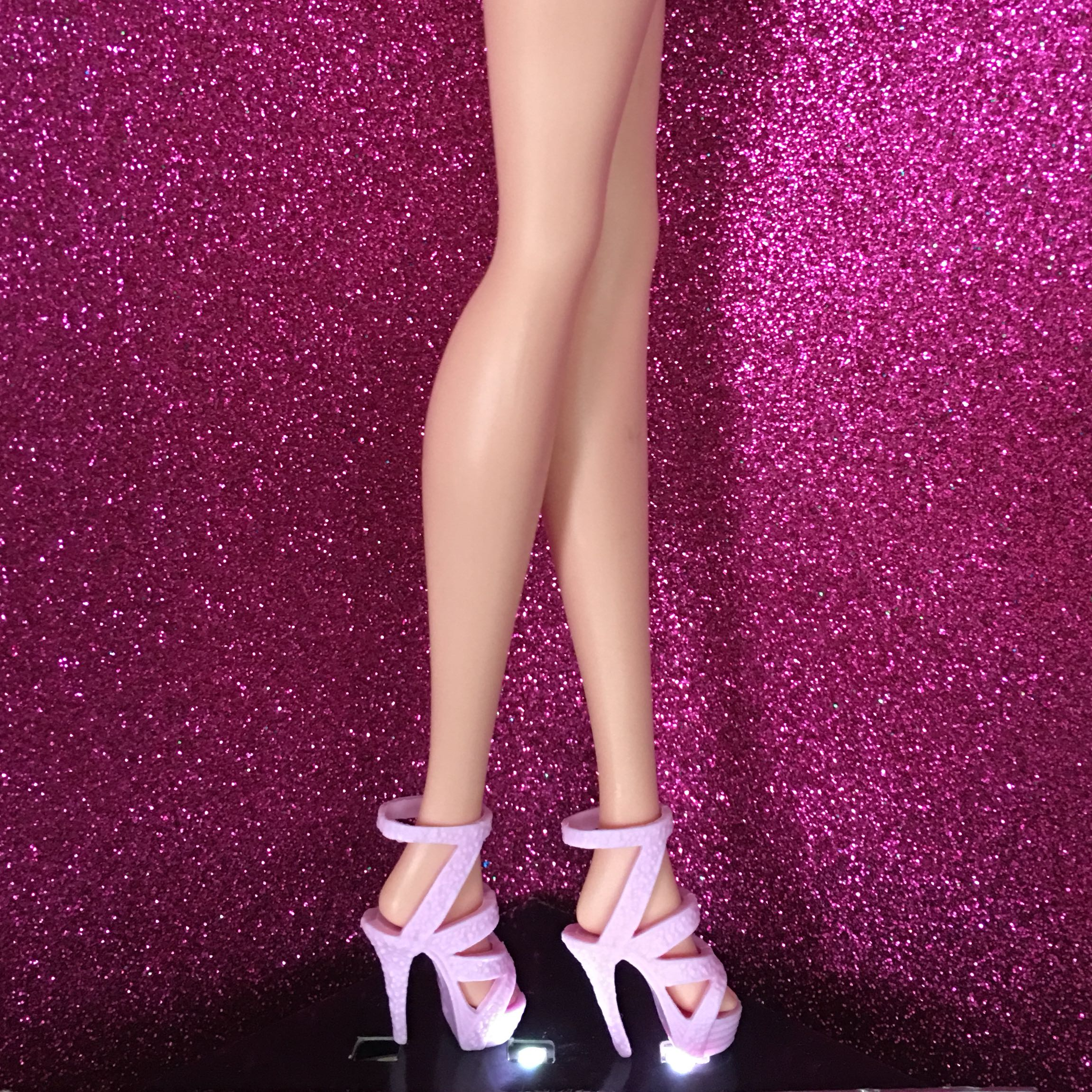 4 PAIRS of STRAPPY SANDALS BARBIE SIZE DOLL SHOES