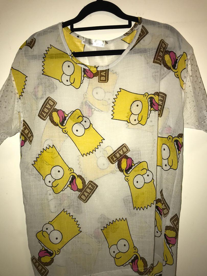 Bart Simpson Sheer Top