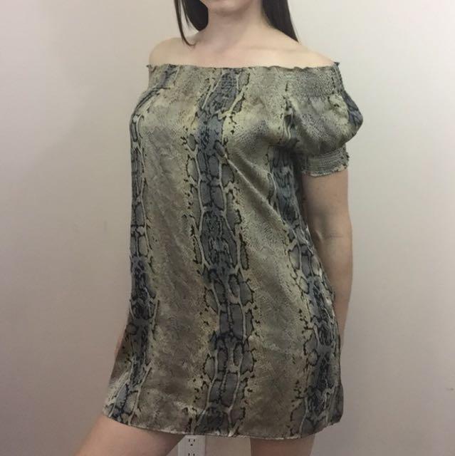 BCBG snake print dress