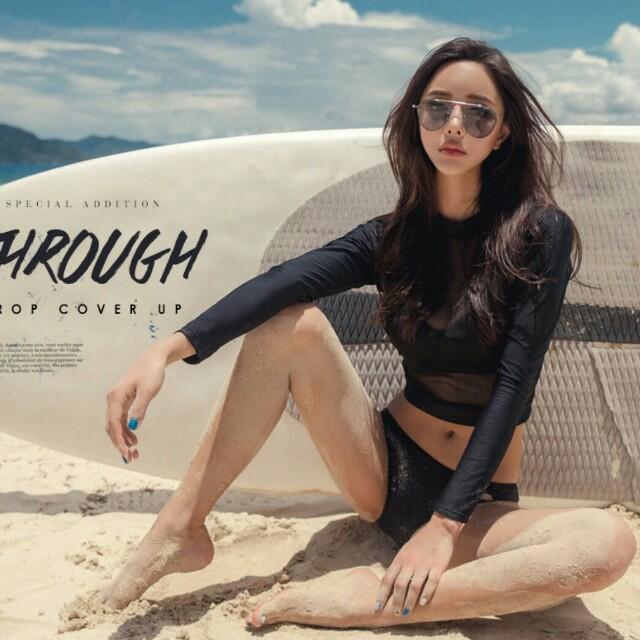 現貨超值💖韓國透紗顯瘦三件組比基尼bikini