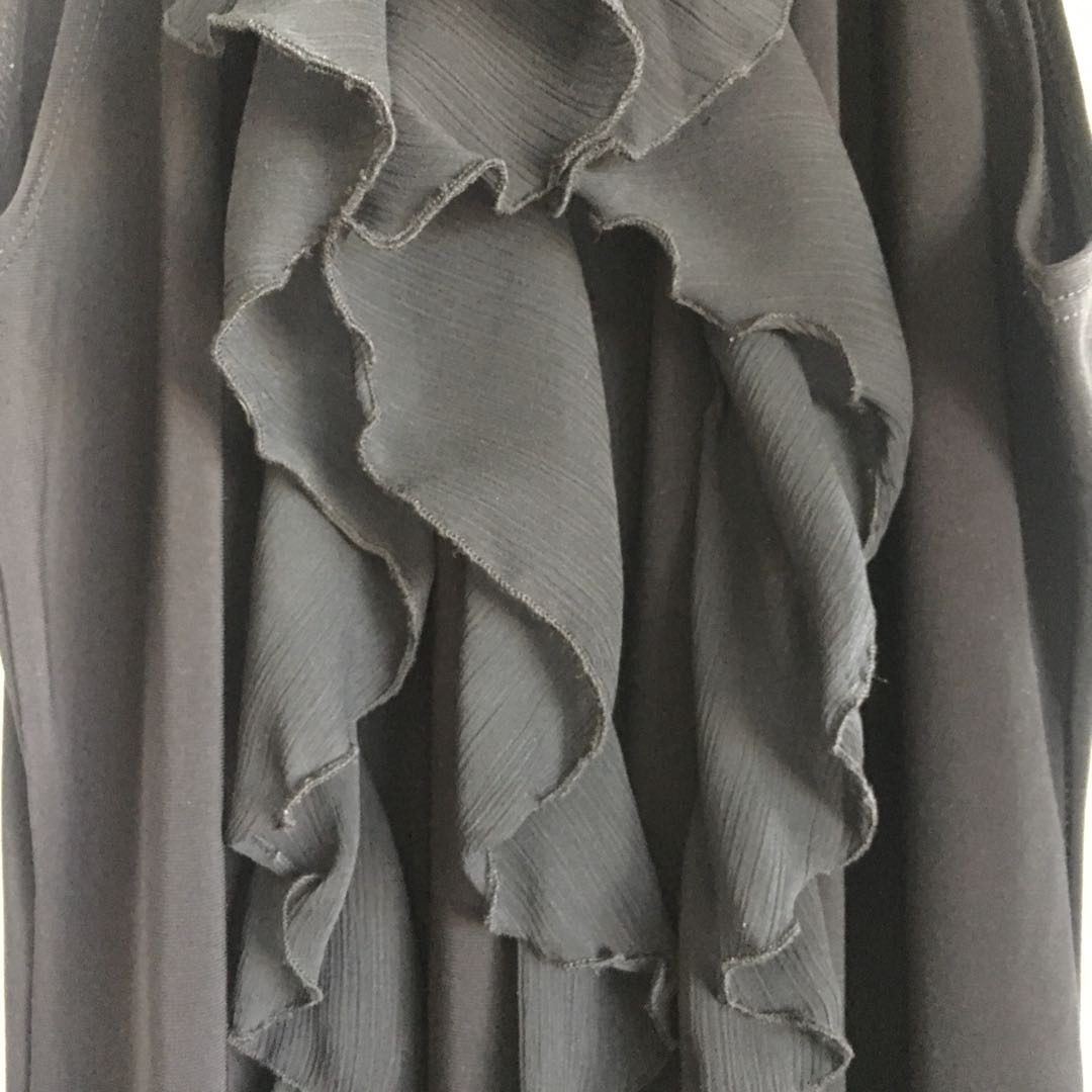 Black Halter Dress (L)