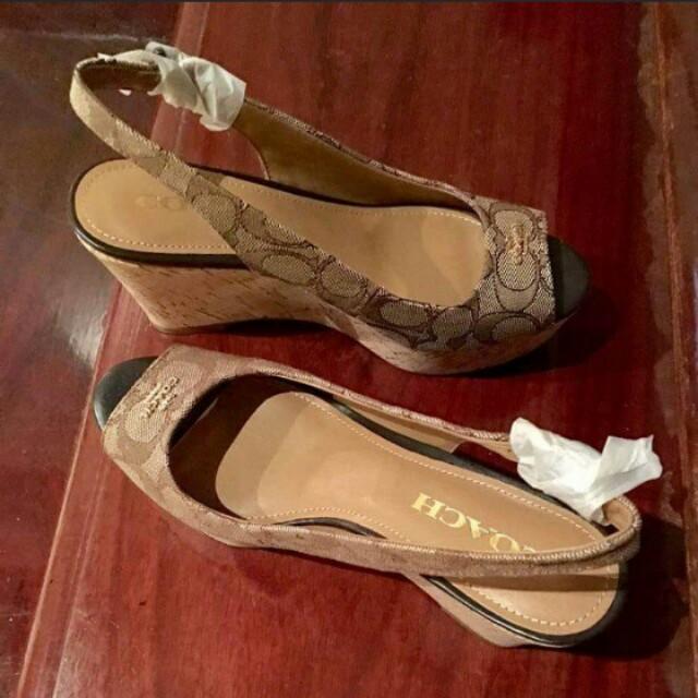 Bnew and Authentic Coach Wedge Sandal