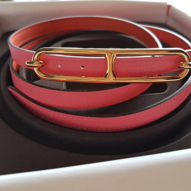 1538bf79a8f92 ... italy brand new hermes dual colour belts with rose gold roulis buckle  luxury accessories on carousell